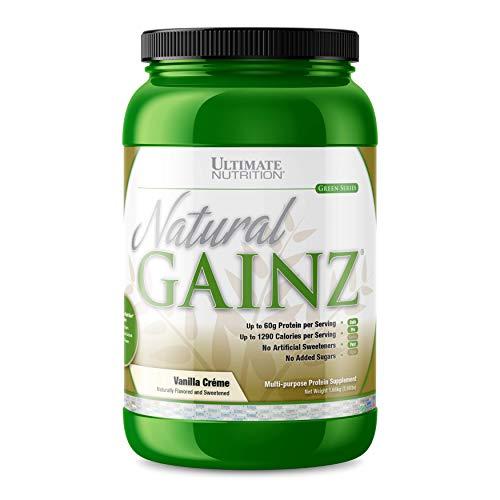 Ultimate Nutrition Natural Gainz Whey Protein Isolate Powder Blend - 60g Protein, 5g Fiber, No Added Sugar (Vanilla)