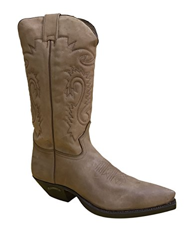 El Charro Men Vintage Leather Boots 2450 Maxi Nubuk Gacela