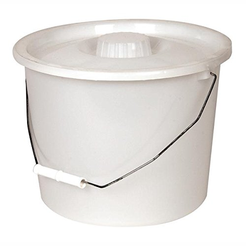 PCP Commode Bucket with Lid and Handle, White