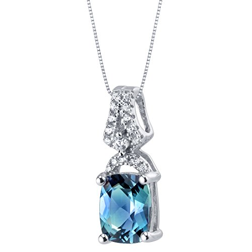 Simulated Alexandrite Sterling Silver Ritzy Pendant (Gemstone Alexandrite Necklaces)
