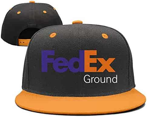2e5f38436241b Caprobot iD Custom Embroidered FedEx Ground Purple Orange Snapback Hat  Yupoong Classic Adjustable Baseball Hat
