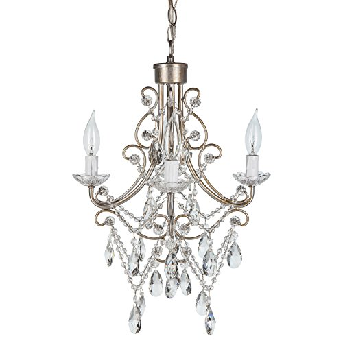Swag style plug in chandelier amazon madeleine vintage silver crystal chandelier mini plug in glass pendant 4 light wrought iron swag ceiling lighting fixture lamp aloadofball Choice Image