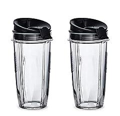 Blend Pro 24 oz Cups For Nutri Ninja Blender With Sip & Seal Lid 2-PACK