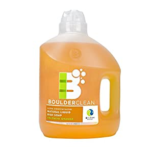 Boulder Clean Natural Liquid Dish Soap Refill, Valencia Orange, 100 Fluid Ounce