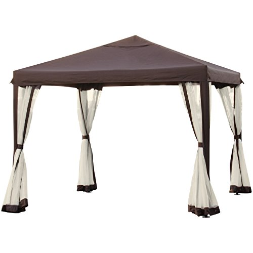 10' x 10' Patio Garden Canopy Gazebo W/ Fully Enclosed Mesh