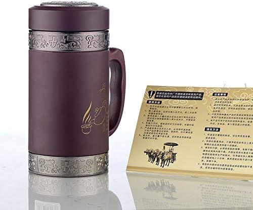 LDATOU 360 ml di isolamento termico Cura della tazza Tazza di argilla viola Tazza da tè Tazza da tè Boccette per ufficio Thermos bottiglia A