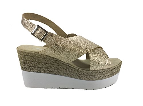 6Carina Women's Fashion Sandals Platino Laminato yX9pAIC