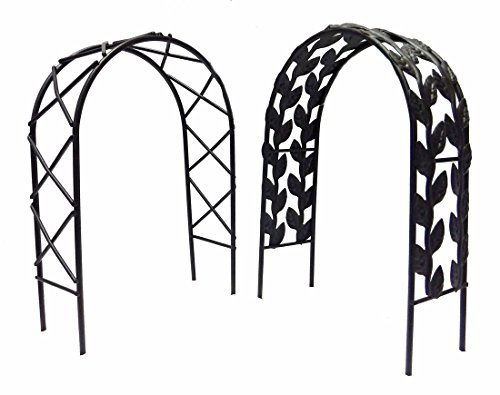 """Set of Two Miniature Fairy Garden Arches - 7"""" high (Black)"""