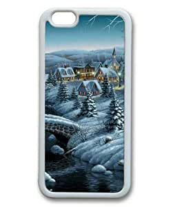 Armener iPhone 6 Plus (5.5 inch) White Sides Rubber Shell TPU Case With Winter Snow Christmas Village wangjiang maoyi by lolosakes