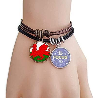 SeeParts Wales National Flag Europe Country Bracelet Rope Wristband Force Handcrafted Jewelry Estimated Price £9.99 -