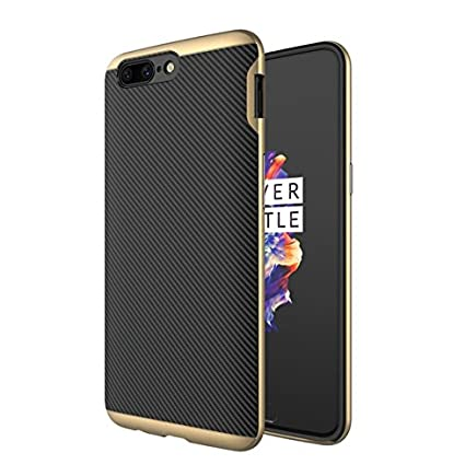 separation shoes 091f3 74675 SPL 2IN1 Case For OnePlus 5 Luxury High Quality Ultra-Thin Silicon inner  Black Back + PC Golden Frame Bumper Back Case Cover For OnePlus 5 -(Golden)
