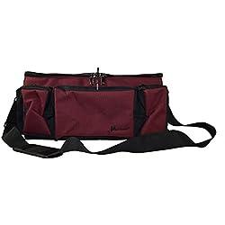 STEELMASTER Med-Master Locking Medication Transport Bag, Burgundy (221800017),4.91 Pound