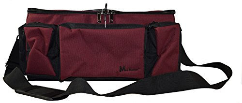 - MMF Industries Med-Master Locking Medication Transport Bag, Burgundy (221800017)