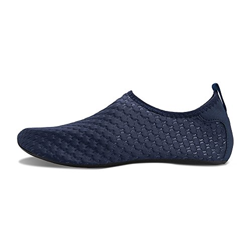 Beach Aqua Quick Shoes Barefoot Summer Water Womens Exercise Socks for embossing and Swim for Mens Blue Shoes Dry Yoga YOw8qqvn