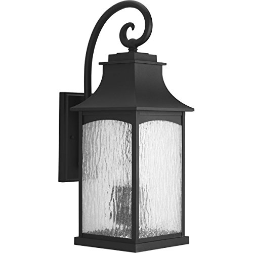 Progress Lighting P5755-31 Traditional/Classic 3-60W Cand Wall Lantern, Black - French Outdoor Lantern