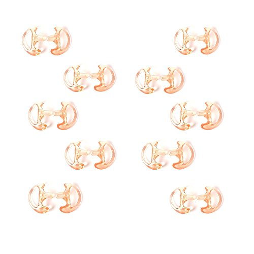 HYS Generic Replacement Medium Earmold Earbud 10 Pairs (Left/Right) for Ham Radio Coil Tube 10 packs