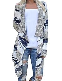 CFD Women Irregular Splicing Long Sleeve Knit Cardigan