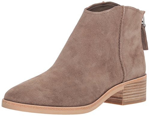 Dolce Vita Women's Tucker Ankle Boot, Dark Taupe Suede, 8 M US