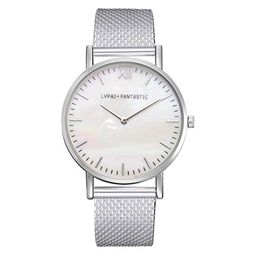 - Hongxin-Lvpai Women's Casual Quartz Silicone Band New Strap Watch Analog Wrist Watch-Best Gift,Fashion (Silver)