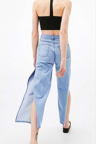 Women 's Casual Jeans De Corte Suelto Blue