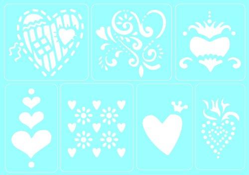 Heart Acrylic Album - Marabu 027400008Stencils Love A5Self-Adhesive