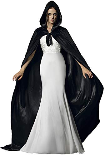 Mother Daughter Witch Costumes (Special Bridal Medieval Cape Cloak with Hood Medieval Cloak Hooded Cloak Hooded Cape)