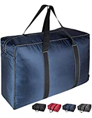 DOKEHOM 130L X-Large Storage Bag (4 Colors), Extra Thickened Fabric Clothes Bag, Ultra Size Under Bed Storage, Moisture proof (Dark Blue, XL)