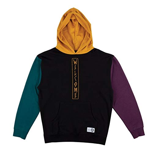 Welcome Quadrant Pullover Hoodie (Black/Gold, Small) (Sweatshirt Welcome Skateboards)
