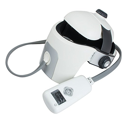 Genmine Electric Head Massager Helmet Type Brain Eye Neck Acupressure Massage With Vibration Relax Acupuncture Points For Relaxation & Stress Massage With Music by Genmine (Image #1)