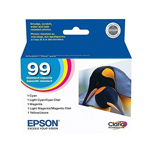 (Epson Artisan 810 ink Color Multipack cartridges 99 with Cyan, Magenta, Yellow, Light Cyan, and Light Magenta Ink Cartridges include: T099220 T099320, T099420, T099520, T099620)