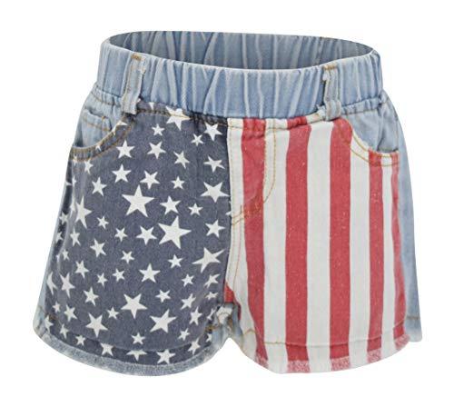 Unique Baby Girls 4th of July American Flag Denim Shorts (8/XXXL)