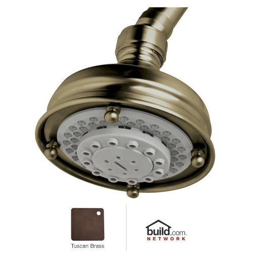 Rohl 1085/8TCB 4-Inch Three Function Diameter Santena Five Jet Shower Rose Showerhead, Tuscan Brass (Tuscan Brass)