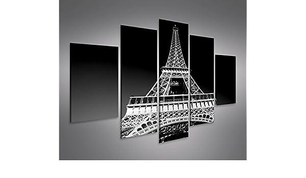 Quadro moderno Torre Eiffel de París de blanco y negro ...