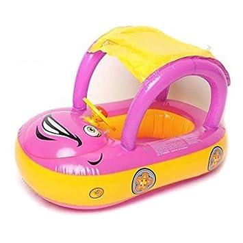Inflable bebé flotador asiento barco piscina de agua playa coche Parasol Toldo: Amazon.es: Jardín