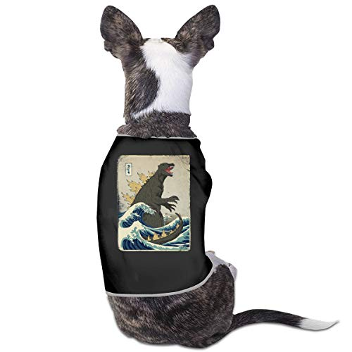 TAOHJS106 The Great Godzilla Off Kanagawa Cat Clothes Dog Shirts Pet Vest