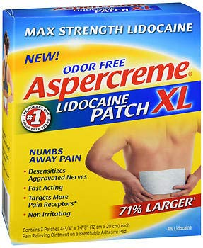 Aspercreme Lidocaine Patches XL - 3 Each, Pack of 4 by Aspercreme