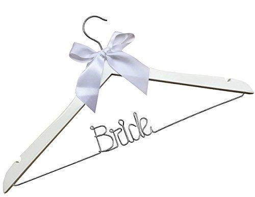 (Bride with heart Wire Hangers,Wedding Custom name hanger, Custom initials Bridemaids Dress Hangers, personalized Wedding gifts, Heart, Silver Wire Hangers,)
