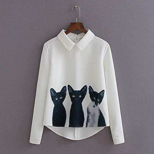 af9875f756d22b XuBa 2019 new Fashion Three Cats Printing Pullover Shirt Long Sleeve Casual  Girls Korean Style Plus