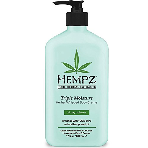 Hempz Triple Moisture Herbal Whipped Body Creme 17.0 oz Apple Vanilla Body Lotion