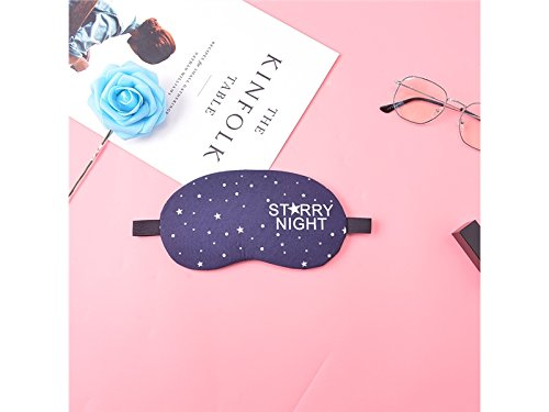 Convenient Cartoon Sleep Gel Star Blindfold Comfortable Sleep Eye Mask(Dark Blue) for Sleeping blueqier