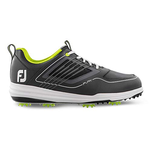 FootJoy Men's Fury Golf Shoes Grey 9.5 M, Charcoal, US (Footjoy Mens Golf)