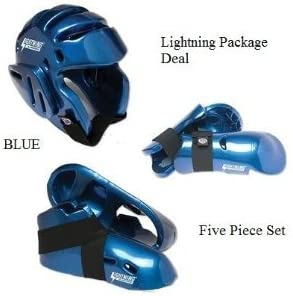 Lightningブルー空手Sparring Gear Package Deal – Child Large