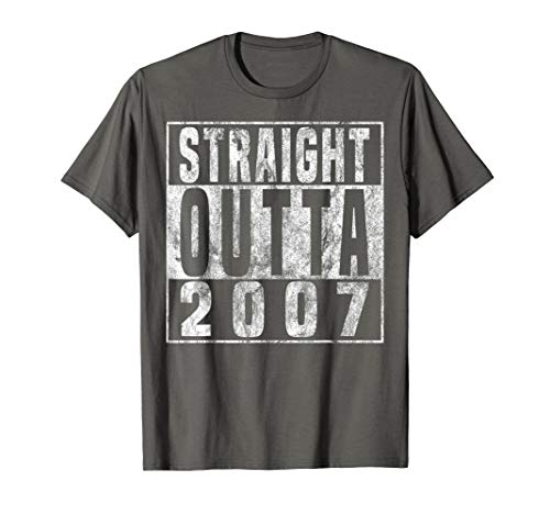 Straight Outta 2007 12th Birthday Gift T-Shirt 12 years old (Great Birthday Presents For 12 Year Olds)