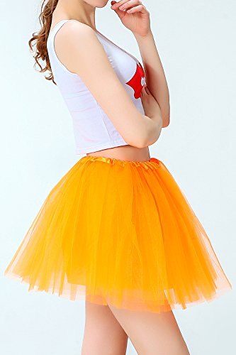Ballet Jupe Classique lastique Femmes Tutu Tulle Orange De Groupe p4fwanO