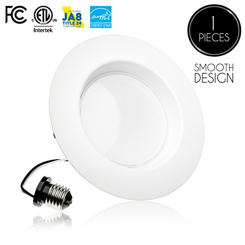 Recessed Ceiling Fixtures ((1 Pack)- 5/6 inch Dimmable LED Downlight, 15W (120W Replacement),EASY INSTALLATION, Retrofit LED Recessed Lighting Fixture, 5000K (Day Light), 1100 Lm, ENERGY STAR, LED Ceiling Down Light)