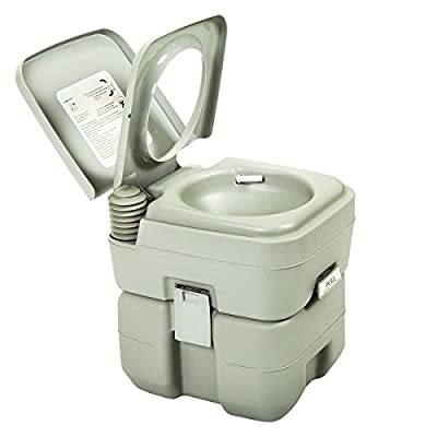 5 Gallon 20 L Out/Indoor Portable Camping Flush Toilet Travel Commode Potty