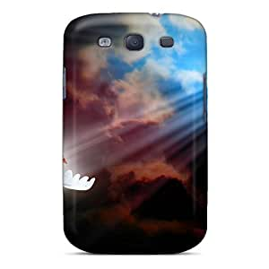 Excellent Design Shine A Light For Peace Phone Case For Galaxy S3 Premium Tpu Case