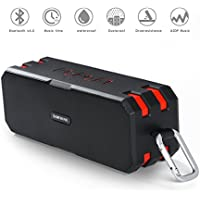 Bluetooth 4.0 Portable Wireless Speaker, 12W Output Power with Enhanced Bass, Built-in Microphone for Handfree Phone Call, TF Card Support , 3.5mm Audio Jack