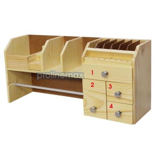 Mini WOODEN Workbench Storage Jewelry Box Tool Rack 18'' x 4-1/2'' x 8-1/2'' by Generic