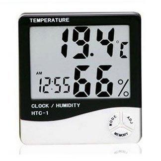 Eastvita® ЖК-дисплей температуры и влажности метр с будильником гигрометр